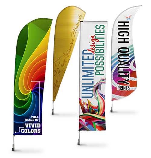Custom Feather Flag 5 ft tall, as low as $ 36 40 , highest