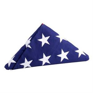 USA BURIAL COTTON FLAG 5 X 9.5 FT