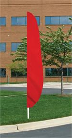 Feather  Flag Red 12 FT , nylon , longest lassting