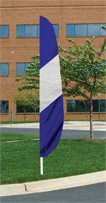 FEATHER FLAG PANEL 12 FT BLUE WHITE BLUE