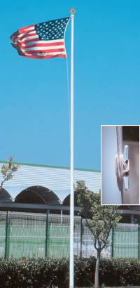 Fiberglass Flagpole 30 Ft External Halyard 870 00 On Sale