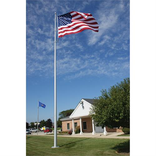 Architectural Flagpole Deluxe Winch 30 Ft 1 995 Ec30ih Lifetime Warranty Eder Quick Ship