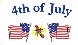 4th of JULY FLAG 3 FT X 5 FT NYLON , BRILLIANT COLORS, MADE IN THE USA