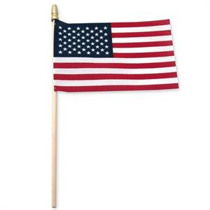 USA STICK FLAG 8 IN X 12 IN ON SALE MADE IN THE USA