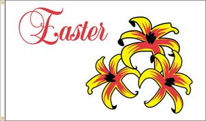 EASTER LILLIES FLAG 3 FT X 5 FT NYLON , MADE IN THE USA