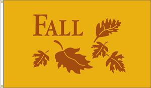 FALL LEAVES FLAG 3 FT X 5 FT NYLON , BRILLIANT COLORS, MADE IN THE USA