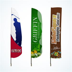 Csutom Feather Flags 10 ft , longest lasting