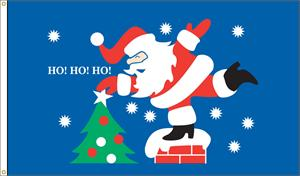 ROOF TOP SANTA FLAG 3 FT X 5 FT NYLON , BRILLIANT COLORS, MADE IN THE USA