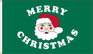 MERRY CHRISTMAS SANTA FLAG 3 FT X 5 FT NYLON , made in the USA