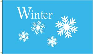WINTER SNOWFLAKES FLAG 3 FT X 5 FT NYLON , BRILLIANT COLORS, MADE IN THE USA