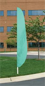 FEATHER FLAG AQUA 26