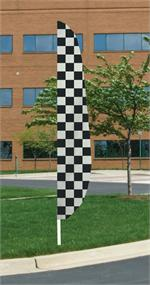 CHECKERED FEATHER FLAG 12 FT NYLON, longest lasting