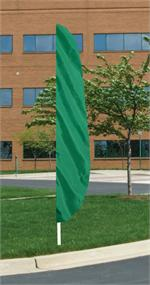 EMERALD GREEN FEATHER FLAG 12 FT NYLON, longest lasting