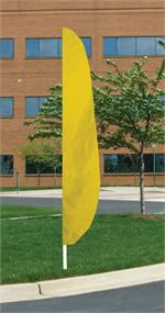 FEATHER FLAG 12 FT NYLON YELLOW, longest lasting
