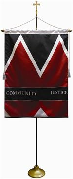 Church Ceremonial Flag Pole Kit  $245 ( Custom Banner Sold Separately )