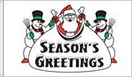 SEASONS GREETINGS FLAG 3 FT X 5 FT NYLON , BRILLIANT COLORS, MADE IN THE USA
